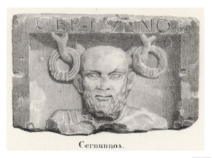 cernunnos horned deity of fertility and abundance honored by the gauls and other celtic peoples
